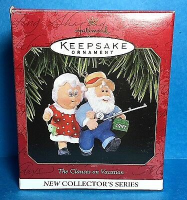 "Hallmark ""The Clauses on Vacation"" Ornament 1997"