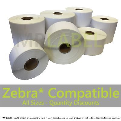 "Zebra Compatible Direct Thermal Labels 76x38mm / 6x4"" / Lots of sizes"