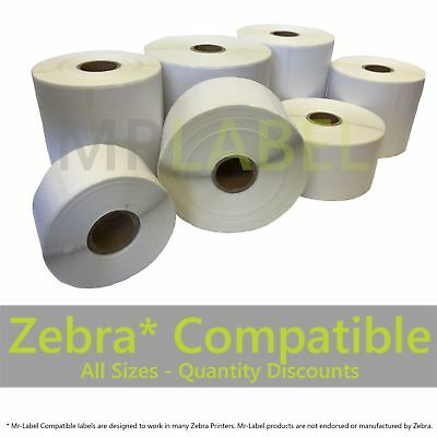 "Zebra Compatible Direct Thermal Labels - Sizes incl 76x38mm & 101.6x152.4 (6x4"")"
