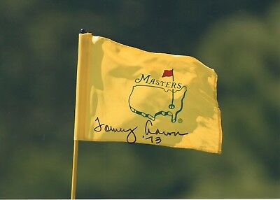 TOMMY AARON HAND SIGNED 5x7 COLOR PHOTO OF MASTERS FLAG      73 MASTERS CHAMPION