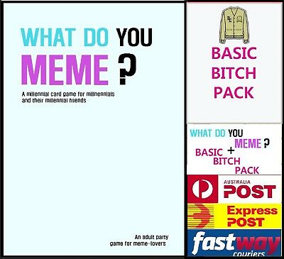 What Do You Meme? + Expansion Fast Delivery In Stock Dispatch Same Day