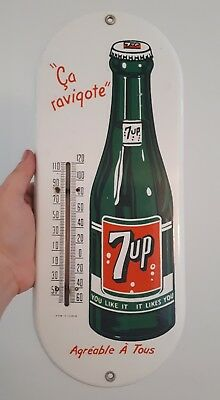 old 7up thermometer sign