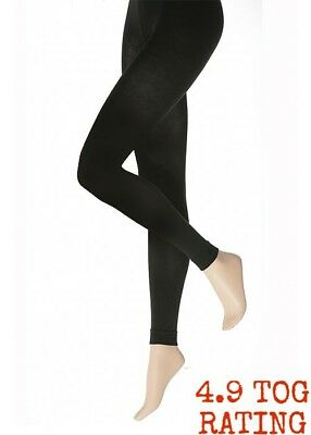 Leggings Footless Black Ladies Warm Winter Thermal Women Stretch Heat Tight Full