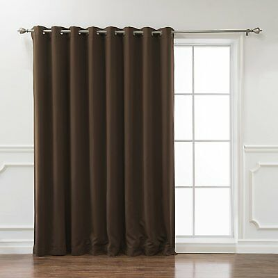 Best Home Fashion Wide Width Flame Retardant Thermal Insulated Blackout Curtain