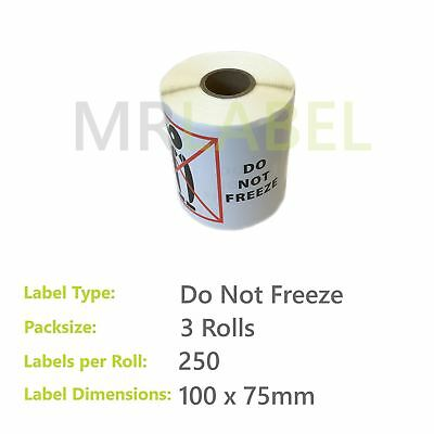 Pack of 3 - Do Not Freeze - 100 x 75 mm