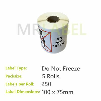 Pack of 5 - Do Not Freeze - 100 x 75 mm