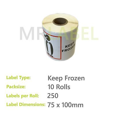 Pack of 10 - Keep Frozen - 75 x 100 mm