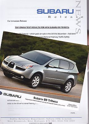 Official SUBARU Press Release and Photos of the B9 TRIBECA from 2006