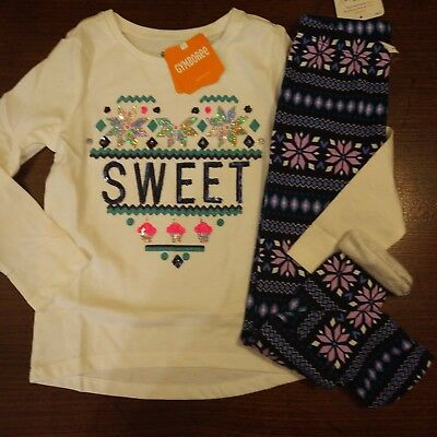 NWT Gymboree Ice Dancer Sweet Heart Top/Fuzzy Leggings Size 7 8 10 12 Outfit