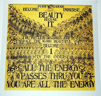 Be Here Now double sided Blotter Art print psychedelic acid art perforated art