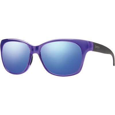 Smith Feature Sunglasses Crystal Ultraviolet/Blue Flash Mirror One Size