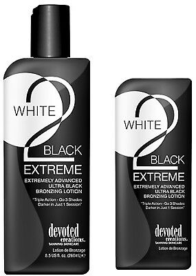 Devoted Creations WHITE 2 BLACK EXTREME Ultra Black Bronzer - Same Day Dispatch