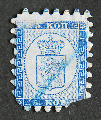 Finland, 1860, SC 4, used, Coat of arms 5 k. blue, FINLANDE
