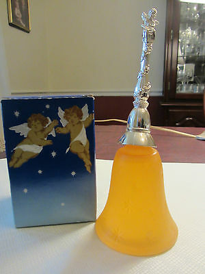 Nib Vintage Avon Heavenly Cherub Hostess Bell ~Bird Of Paradise Cologne~Pretty