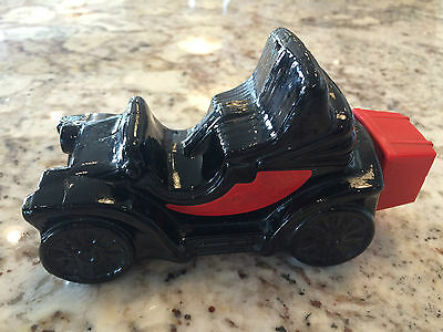 Vintage AVON ELECTRIC CHARGER LEATHER CAR DECANTER (empty) - COLLECTIBLE!