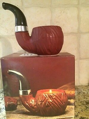 NIB Vintage AVON FRESH AROMA SMOKER'S CANDLE ~ PIPE SHAPED HOLDER ~ MAN CAVE!