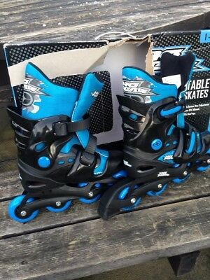 No fear inline skates size 1-4 in black and blue