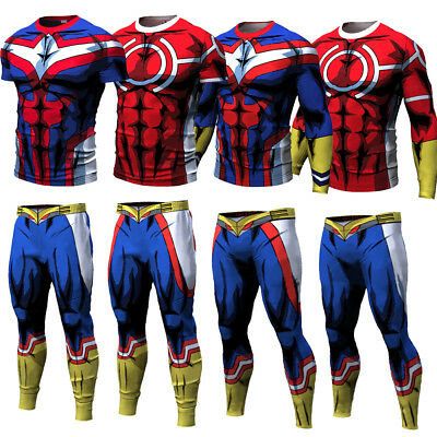 My Hero Academia Gym Men Trouser Pants Sport 3D Print All Might Cycling Costume