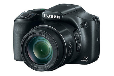 Canon PowerShot SX530 16MP Digital Camera 50x Optical Zoom Full-HD WiFi SX530HS