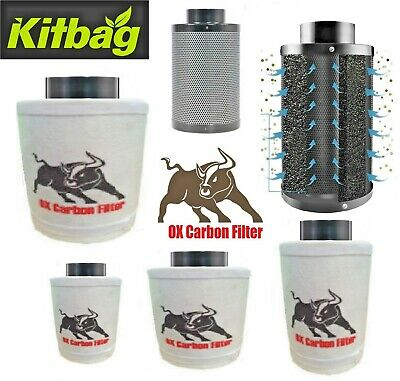 OX Pro Carbon Filter 4 5 6 8 10 Inch Hydroponics 100mm 125mm 150mm Extractor