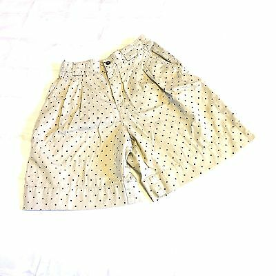 Vintage Women's Khaki Shorts by LizSport Liz Claiborne with Polka Dots Size 4