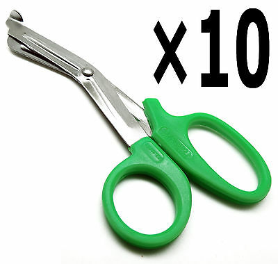 """10× EMT Utility Green Scissors 5.5"""" Medical Paramedic First Aid Shears Tools"""