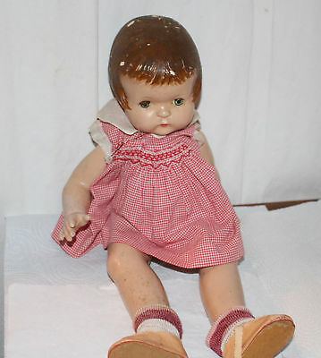 "Vintage Effanbee Pasty Ann Doll 19"" Tall Dressed"