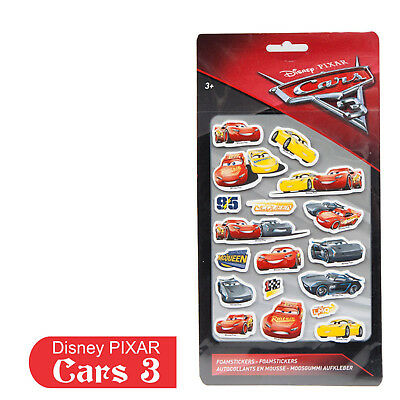 Cars 3 Foam sticker Large ~ Disney Pixar's Cars  ~ Mini Micro Racers Die-cast