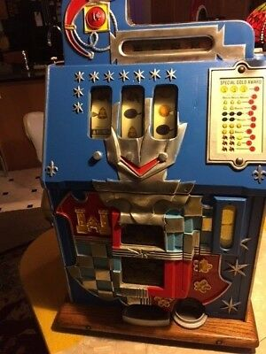 Mills Novelty One Cent Castle Front Slot Machine - One Cent Machines Are Rare!
