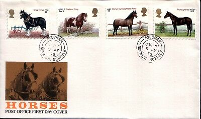 Horses Post Office First Day Cover 1978