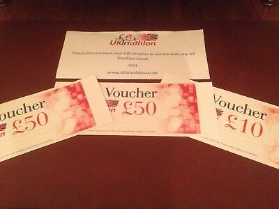 UK Triathlon Vouchers - £110 - Selling For Reduced Price - Perfect Xmas Present!
