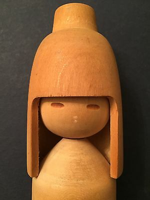 Vintage Kokeshi Doll signed - Plain Simple Design