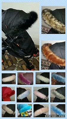 Luxury faux fur hood trim for pram/buggy Venicci, Cosatto, Mothercare, Oyster