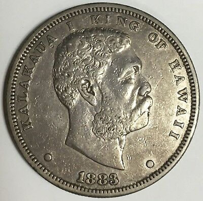 1883 Kingdom of Hawaii One Dollar Silver Coin Lightly Ciculated (S461)