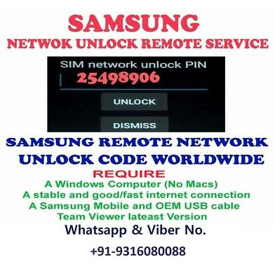 CRICKET SAMSUNG REMOTE UNLOCK CODE SERVICE FOR SM-J327AZ or -J727AZ or J326AZ
