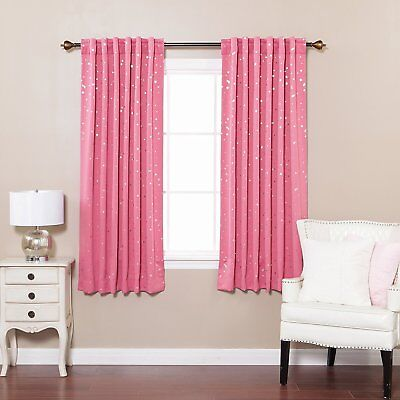 Best Home Fashion Star Print Thermal Insulated Blackout Curtains - Back Tab/ Rod