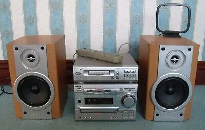 SONY Mini HI-FI Component System DHC – MD333 +  Stereo Cassette Deck TC-TX333