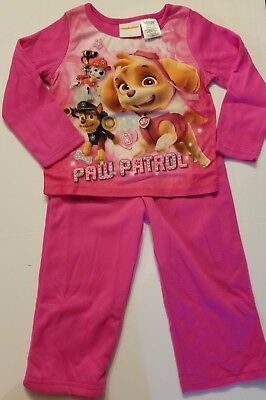 NEW Paw Patrol Pink Flannel Pajamas Size 3 T  Free Shipping