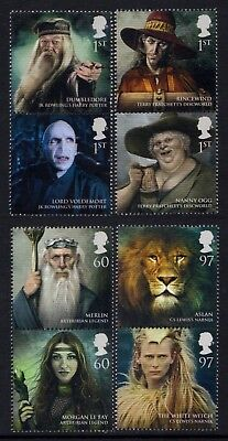 """Gb. 2011. """"magical Realms"""". 1 Set Of 8 Stamps In Vertical Pairs. Mnh."""