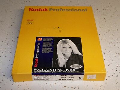 Kodak Polycontrast IV RC E  8 x 10, sealed box of 100 sheets _BSES