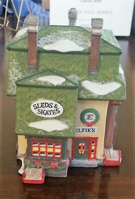 Dept. 56  North Pole Series, Elfies Sleds and Skates, Original Box & Sleeve