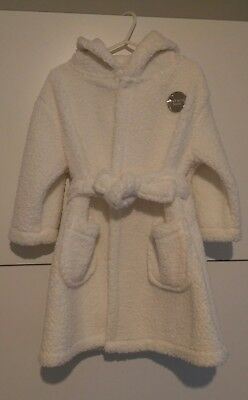 Girls Dressing Gown 18-24 months Cream Bunny Rabbit Ears Brand New
