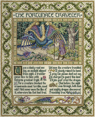 The Fortunate Traveler Teresa Wentzler Cross Stitch Chart Free Postage