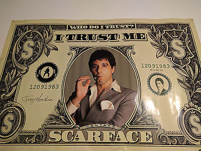Poster Scarface Dollar. 91 x 61 cm