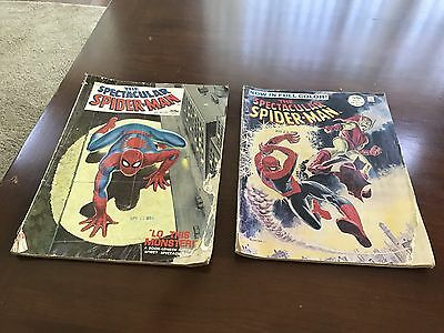 Marvel Spectacular Spider-Man 1968 Comic Magazine Lot 1 And 2