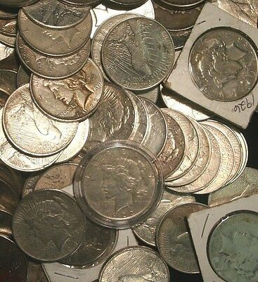 Peace Silver Dollars US Coin lot, Circulated, Choose How Many! FREE SHIPPING!