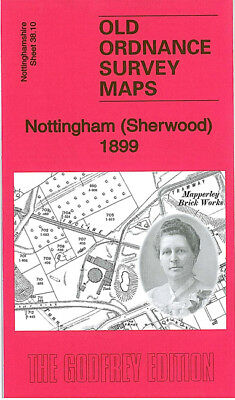 Old Ordnance Survey Map Nottingham Sherwood Mapperley Brick Works Arno Vale 1899