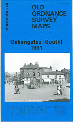Old Ordnance Survey Map Oakengates South 1901 Mossey Green Snowhill