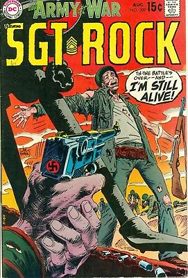 Our Army at War #209. Aug 1969. DC. Starring Sgt. Rock. VG/FN.
