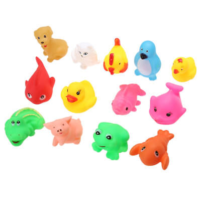 Baby Bath Rubber Duck Toy Water Floating Ducky with Hot Water Squeeze Toys x13